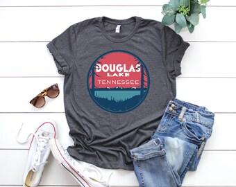 Douglas Lake Tennessee Lake Life Lake Bum Short-Sleeve Unisex T-Shirt