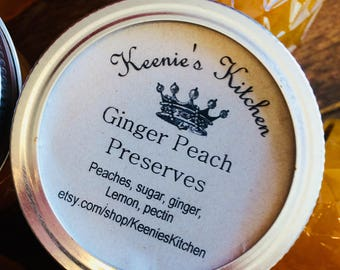 Ginger Peach Preserves