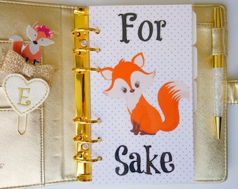 For Fox Sake Personal, A5, A6, B6 & Pocket Planner Dashboards