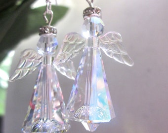 Best Seller, Angel Earrings, Swarovski Crystal Angels,Stunning Earrings, Sparkle Angel Earrings