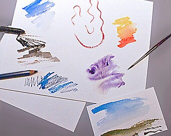 "5"" x 7"" Arches Watercolor Paper, Choice of 3 Surface Textures and 2 Weights - Pack of 10 Sheets"