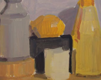 Still life with yellows