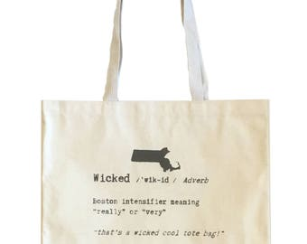 Wicked Definition / Canvas Tote Bag