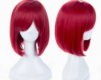 Yumeno Himiko Style New Danganronpa V3 Anime Cosplay Red Hair Wig Free Hair Cap