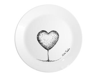 Hand painted decorative dish - HEART