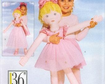 Butterick 4602 Girl Ballerina 36 inch tall Dance DOLL sewing pattern UNCUT VTG