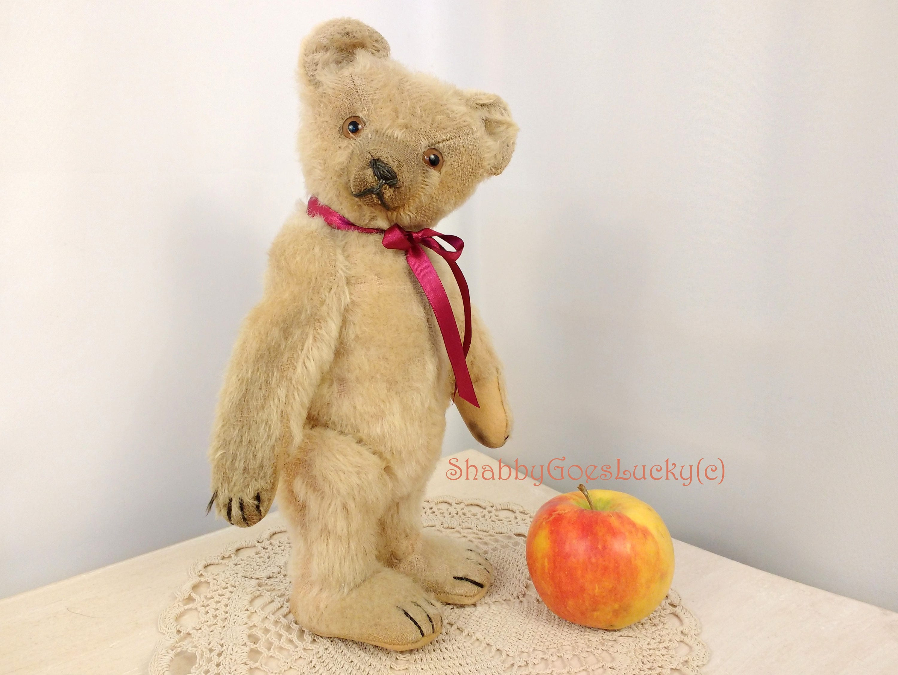 Antique German teddy bear 1920s made by Willy Weiersmüller in