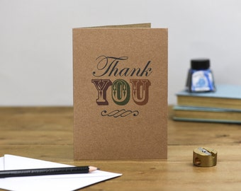 Typography Thank You Card