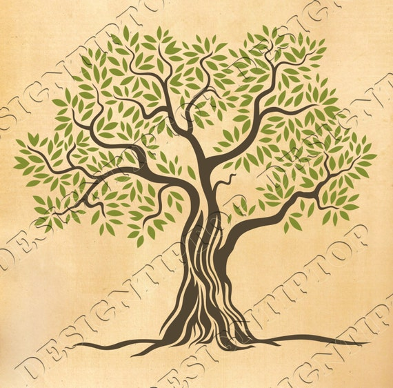 Green tree SVG, tree svg, print and cut files, svg,dxf,png,eps ...