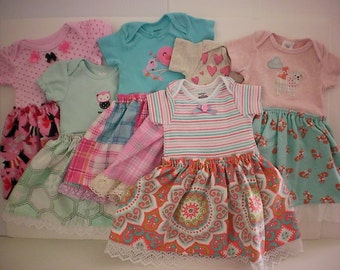 SALE! Infant girl onesie dress - 3-6 months