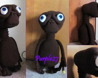 Crochet XETI Alien PATTERN (PDF) - Instant Download