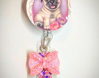 Sale Badge Holder Retractable Nurse Dog - Cute Badge Reel Nurse