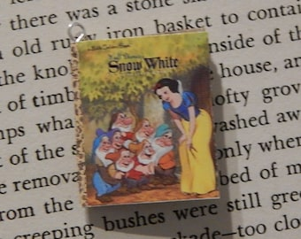 Snow White Golden Book Necklace, Brooche, or Keychain