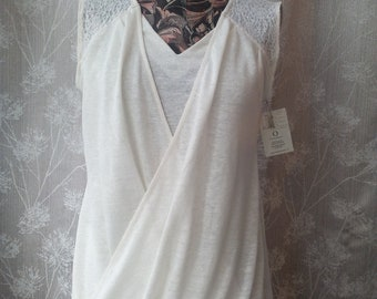 Linen and lace top, possibility of making dress