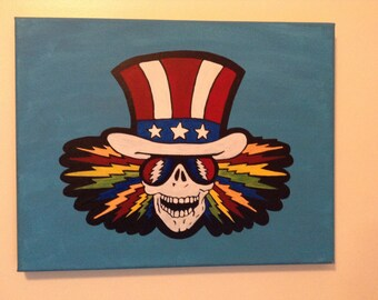 "Uncle Sam Painting 11"" x 14"""