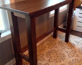 Custom Height Solid Wood Standing Desk