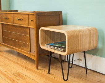 Modern End Table. Night Stand. Plywood Furniture.