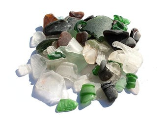 SEAGLASS BOTTLE PARTS Bulk lot of English sea glass bottle parts Art and collectibles vintage glass Reclaimed salvage glass Craft supplies