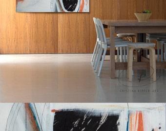 Original large mixed media abstract painting on canvas- Original painting, modern art painting, minimalist canvas wall art, large abstract