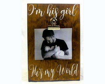 Fathers Day Gift from Daddy's Girl, Daddy Picture Frame, Fathers Day Photo Gift from Daughter, Dad Daughter Fathers Day, Daddy's Little Girl