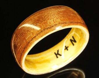 Wooden Ring Walnut - Wood Wedding Band - Wood Ring - Bentwood - Wood Engagement Ring - Wooden Wedding Ring - Wooden Wedding Band Personal