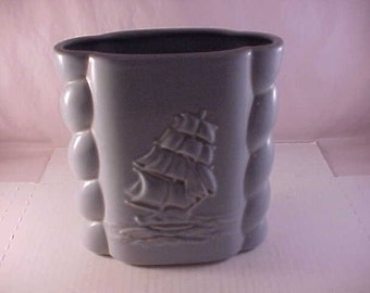 Abingdon Art Pottery Sailing Ship Vase 494