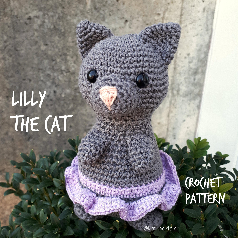 Lilly the cat crochet pattern amigurumi