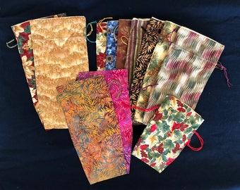 Sampler Set #1 - 12 Year-Round Prints - Mixed Sizes: Large, Medium (Wine) and Small - Limited Edition Fabrics (Set1-12-LB14)