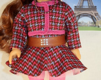 18 Inch Doll Clothing - Holiday in Paris Ensemble