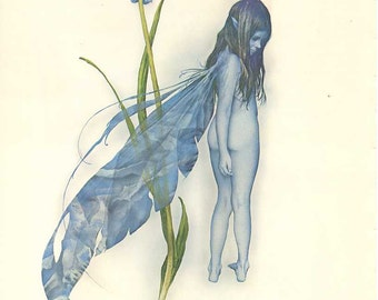 Vintage Book Print Fairy Picture