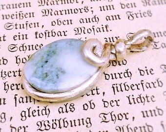 Small Jade Silver Pendant