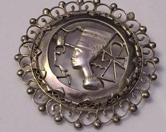 2018 Queen Nefertiti Sterling Silver Brooch & Pendant