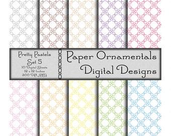 Commercial Use Digital Paper, Digital Scrapbook Paper 12 x 12, Instant Download, Designer Paper Pattern, Printable Paper, Pastel Colors