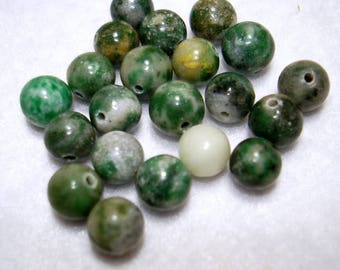 Ching Hai Jade Round Gemstone 6mm Beads (Qty 20) - B3496