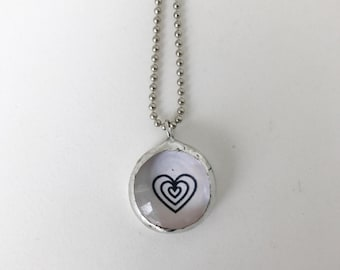Lots of Love HEART.  Tiny Bauble.
