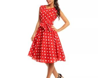 Vintage Style polka dress 12
