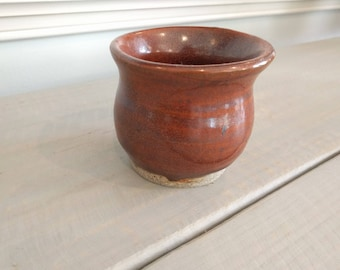 SALE Small Rustic Honeypot Cup in Red