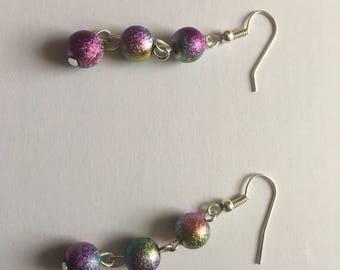 Stardust beaded earrings