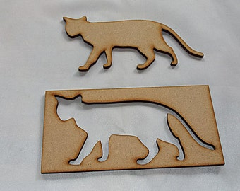 CAT Stencil for further embelishment or to use for your project Choose size