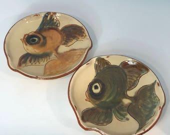 Pair Handmade Fish Dishes.