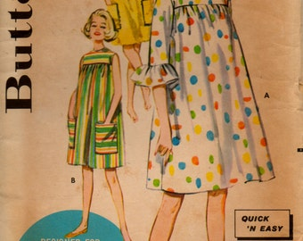 "Vintage Butterick Pattern 2289; ""Smock"" dress from 1960"