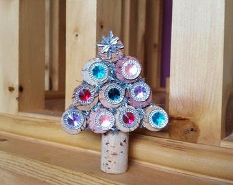 Wine Cork Tree, Cork Christmas Tree, Bejeweled Tree