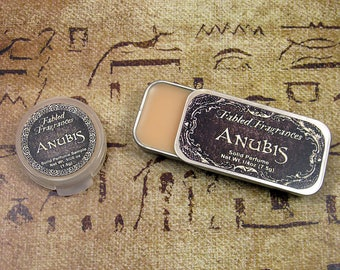 ANUBIS Solid Perfume with Amber Resin, Dark Patchouli, Frankincense, Musk, Egyptian Mythology, Vegan Perfume Balm, Ships Out in 5-8 Days