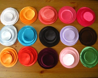 "300 Hand Cut Fabric Circles -  Max 5 colors from 1.5"" to 3"""