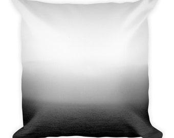 Monochrome Mediterranean Sea Fog Square Pillow 1:100 Limited Edition