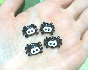 Fimo Spider Earrings
