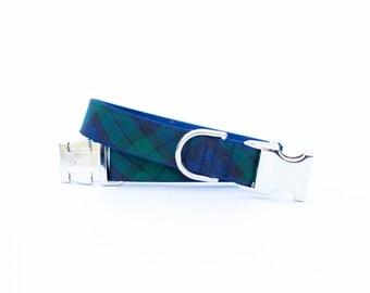 Plaid Dog Collar - Blackwatch Tartan