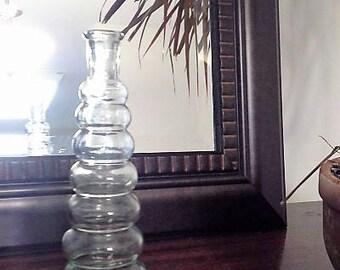 Vintage Spiral Single Stem Vase-pale green