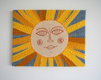 Sunshine Stretched Embroidered wall art