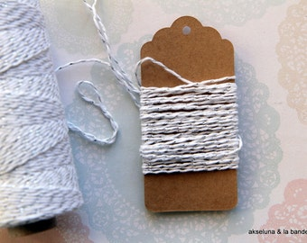 Silver Mettalic Baker's twine - 10m for gift wrap, wedding, xmas